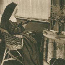 Schwester auf der Krankenstation des Mutterhauses (etwa 1930)