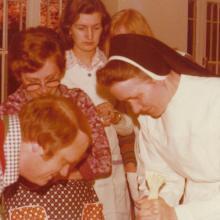 Kochschule im Mutterhaus: Schwester Ferdinande (etwa 1972)